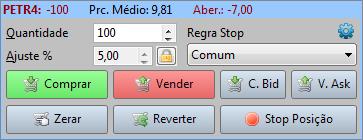 Boleta DayTrade com a configuração de DPI em 100%